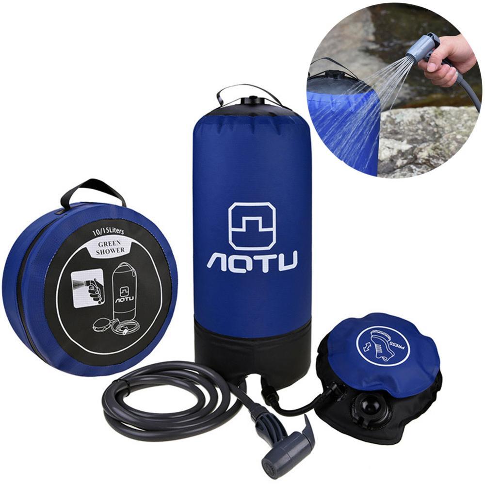 11L PVC extérieur gonflable douche pression douche sac d'eau Portable douche de Camp