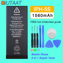 Giutaat Battery for Apple iphone 5S Mobile Phone 1560mAh Lithium Polymer Batteries Free Tools