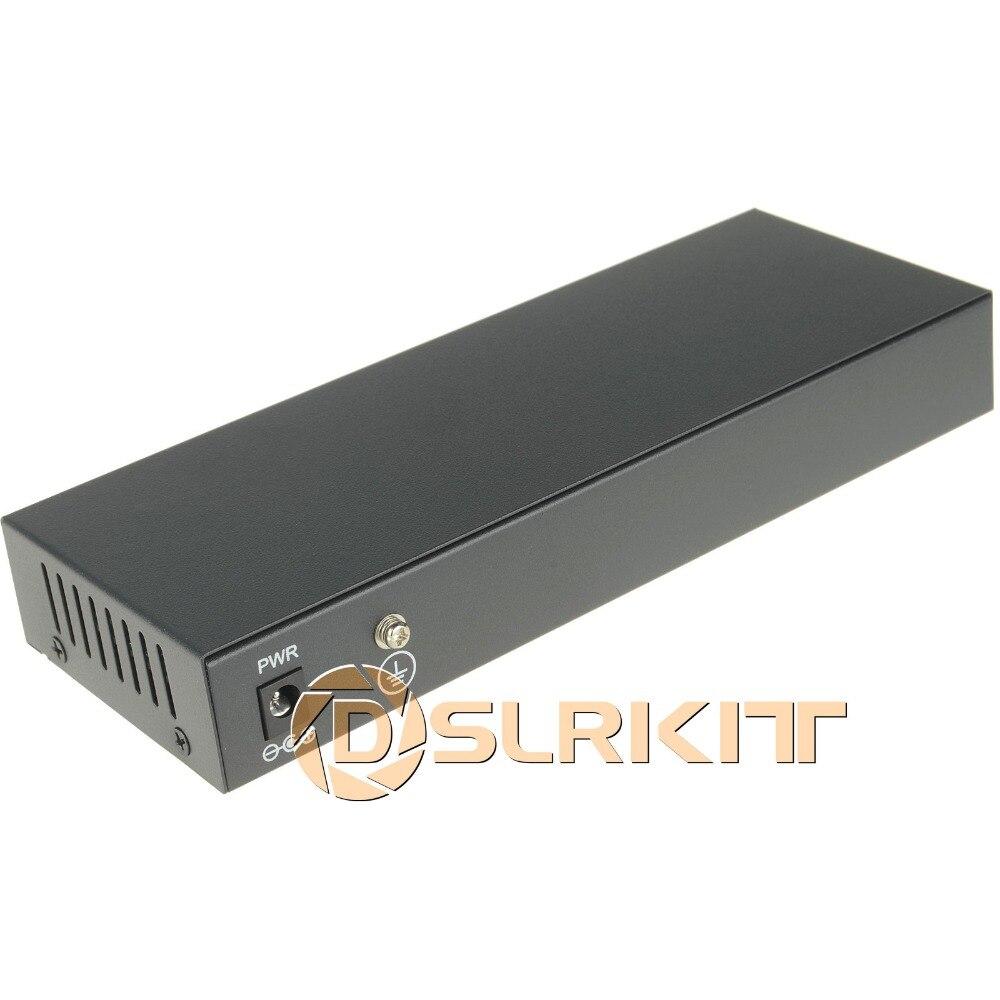 DSLRKIT 48 V 120 W 9 Ports 8 PoE injecteur de puissance sur commutateur Ethernet 4,5 +/7,8-pour caméra IP/système de caméra AP/CCTV sans fil - 3