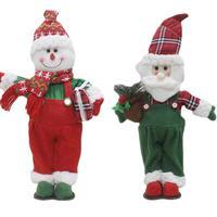 Kerstman Sneeuwpop Pop Speelgoed Staande Navidad Beeldje Kerstboom Ornamen Thuis Tafel Decor Kids Gift Xmas Nieuwjaar Levert