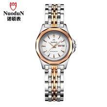 Nuodun Модный Бренд Из Нержавеющей Стали Женщины Платье Часы Кварцевые Часы Водонепроницаемые Часы Наручные Часы Relojes Mujer Часы Horloges