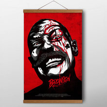 Scrolls Paintings Movie Bronson Red Art Posters and Prints Vicious man Canvas Art For Living Room Decor(China)