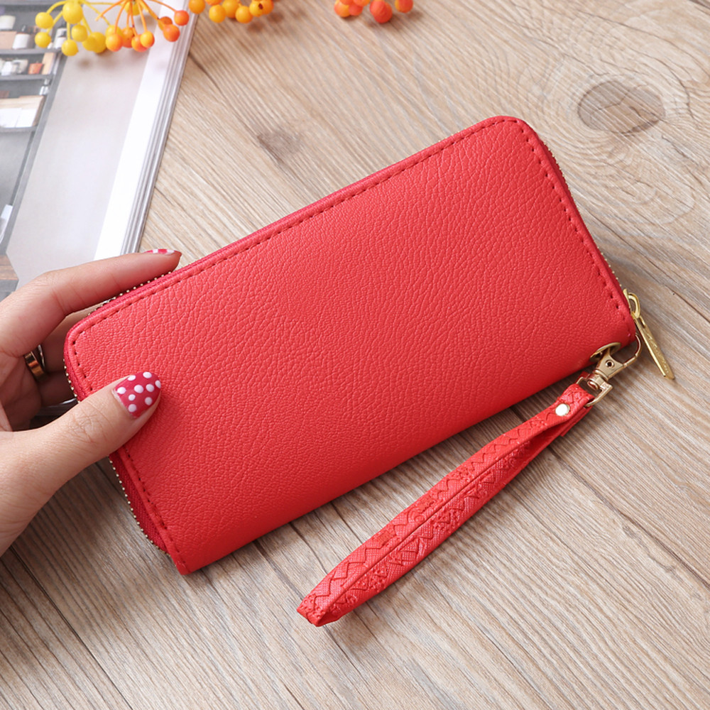 Fashion Women Lichee Pattern Road Wallet Coin Bag Purse Phone Bag Wholesale&Dropshipping Free delivery 5