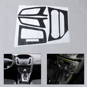 DWCX Car Interior Center Console Carbon Fiber Molding Stickers Decal for Ford Focus 3 MK3 2012 2013 AT Automatic