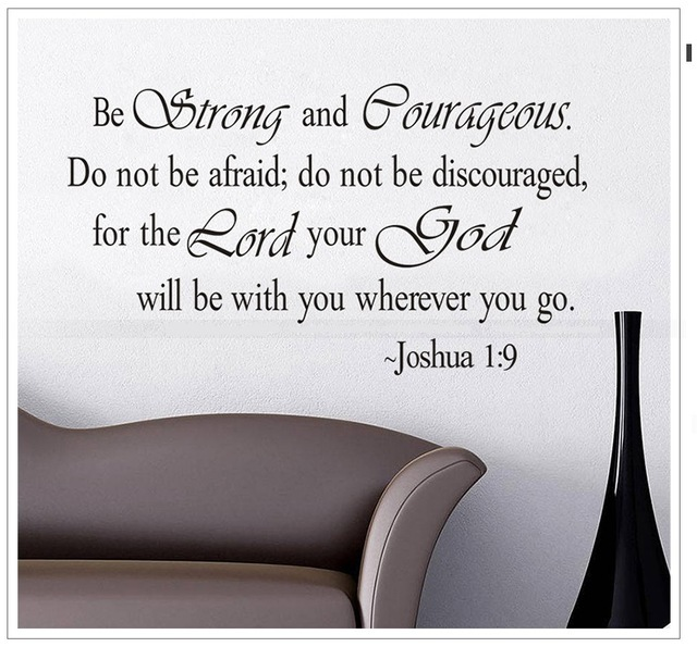 Be Strong And Courageous Bible Quotes Home Decor Creative Wall