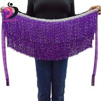 2018 NUOVE Monete Danza Del Ventre Catena di Vita Hip Sciarpa di danza del Ventre Cinghia Costume Zingaresco Cintura Accessori Lungo Nappa Triangolo Hip