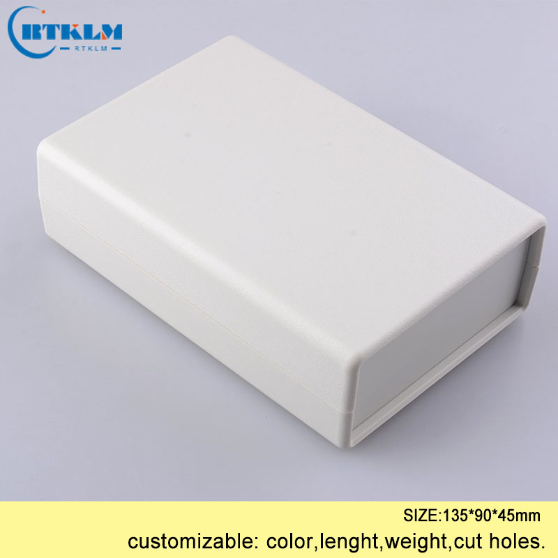 DIY instrument case plastic enclosure abs plastic project case housing desktop enclosure pcb design junction box 135*90*45mm