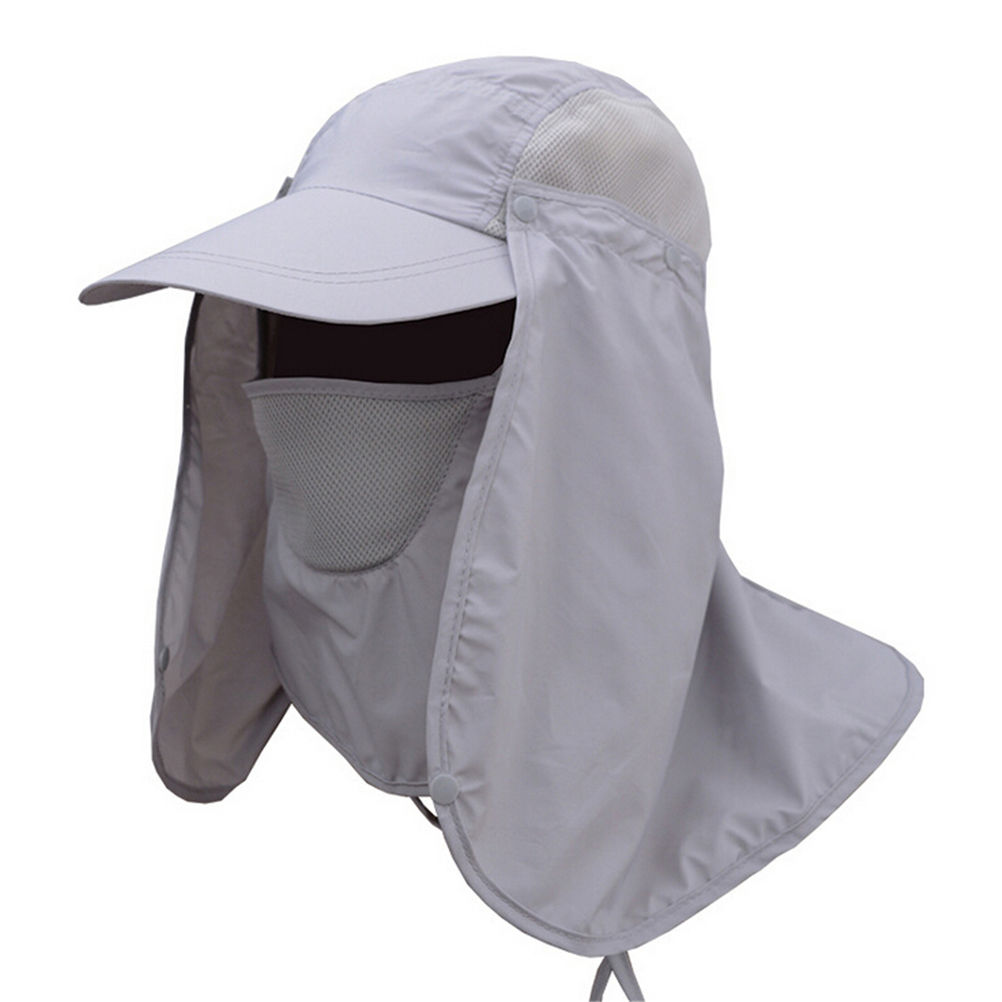 1Pcs 5 Colors Big Wide Brim Mesh Face Neck Cover Mask Cover Flap Fishing  Cap for Outdoor Camping Hiking Fishing b8888a5a05a5