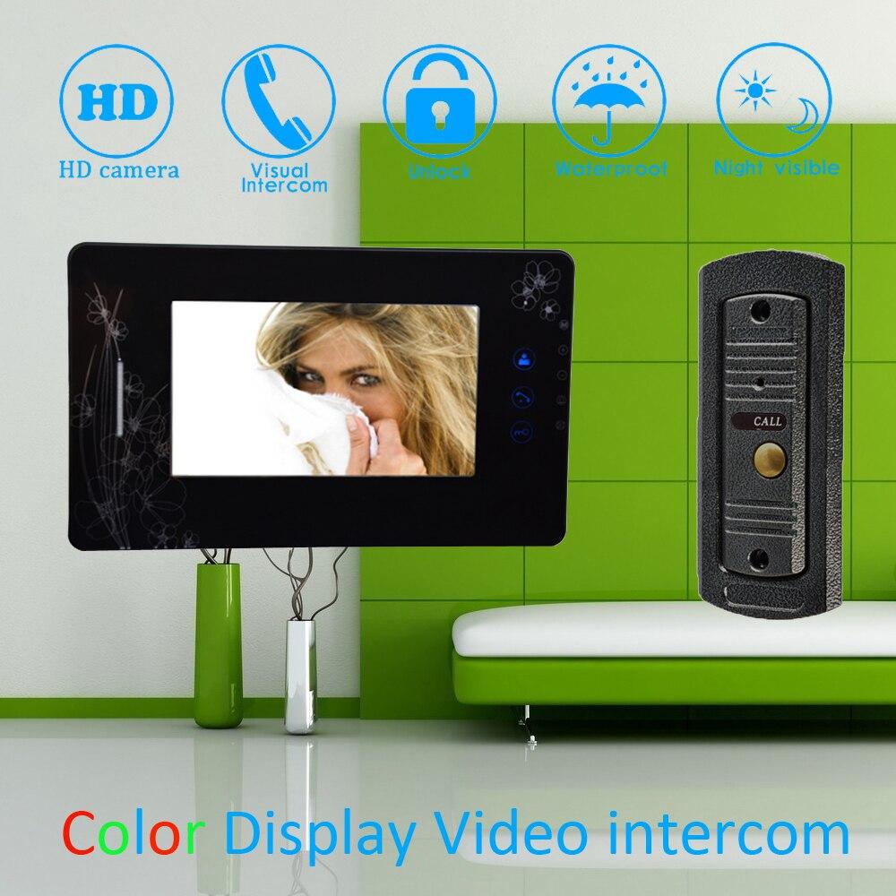 (1 Set) 7 Color Touch Monitor Home Improvement Video Door Phone Home Security Digital Doorbell Door Access Control Intercom