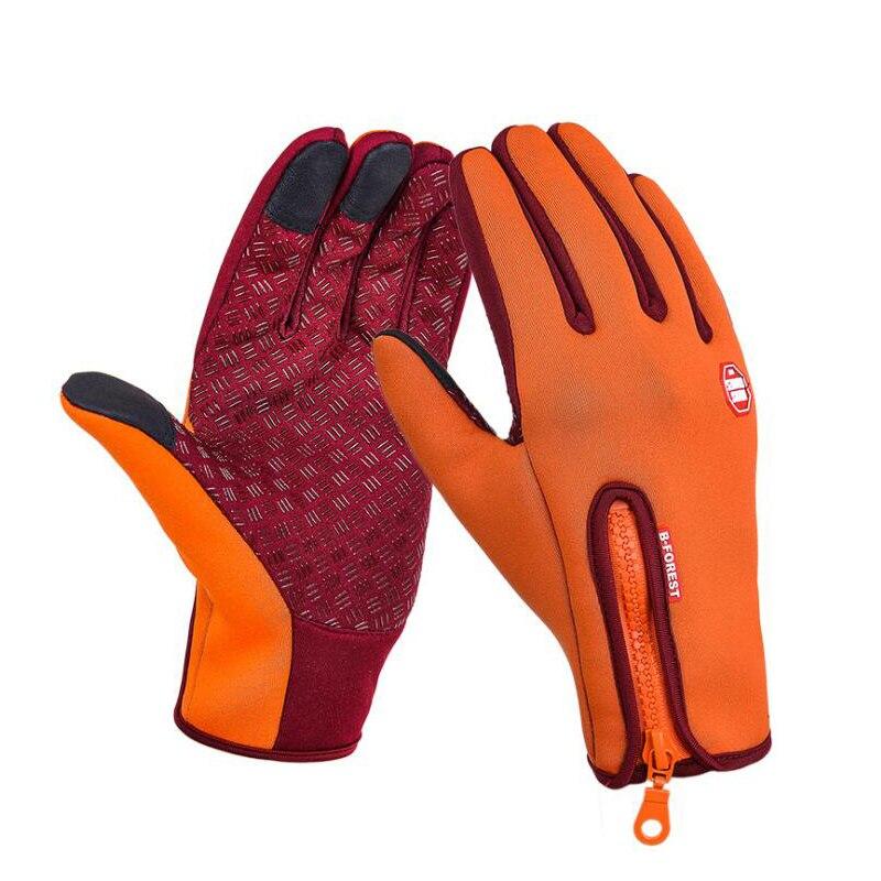 Ветрозащитный Тактический Зимние перчатки бархат мотоцикл Лыжный Спорт Велоспорт полный палец сенсорного экрана полезной Для мужчин Для ж...