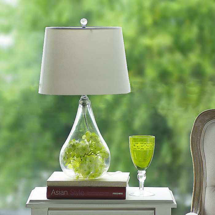 Free Shippingamerican Pastoral Small Glass Table Lamp