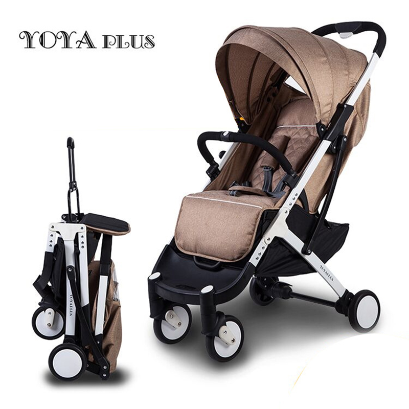 yoyaplus Portable folding cart can sit and lie baby stroller High landscape baby strollers in winter and summer twin stroller high landscape can lay the portable folding baby cart