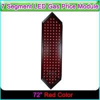 72 Red Color 7 Segment Digita Numbers Module Outdoor LED Digital Gas Price Display