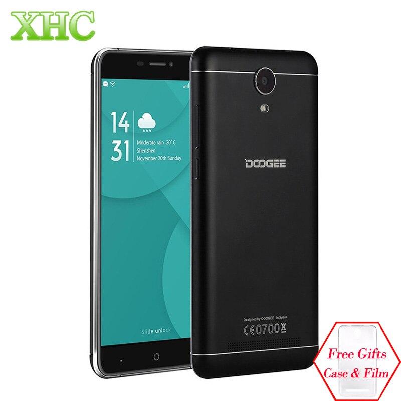 DOOGEE X7 Pro 6.0 inch Android 6.0 Smartphone MTK6737 Quad Core LTE 4G Dual SIM 2GB 16GB Cell phones OTG OTA GPS Mobile Phone