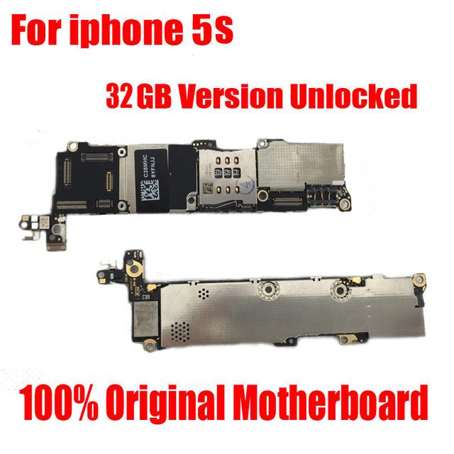 Bom trabalho mainboard 32 gb versão oficial motherboard para iphone 5s desbloqueado com batatas fritas sem impressão digital logic board
