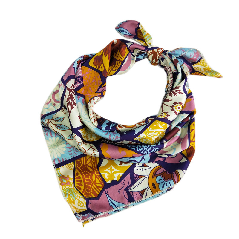 Fashion Wild New Scarf Headscarf Hair Tie Women Elegant Small Square Scarves Silk Female Spring Summer Printed Silk Scarf in Women 39 s Scarves from Apparel Accessories