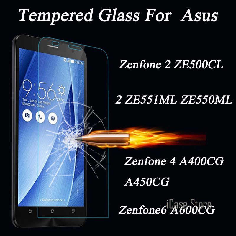 قسط الزجاج المقسى واقي للشاشة طبقة رقيقة واقية لآسوس Zenfone 2 ZE500CL ZE551ML ZE601KL ZE550ML 4 A400CG A500CG