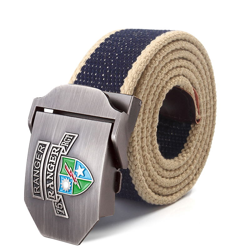 Apparel Accessories Supsindy Canvas Belt Chinese Navy 3d Star Alloy Buckle Military Men Belt Army Tactical Belts For Men Top Quality Male Strap Blue