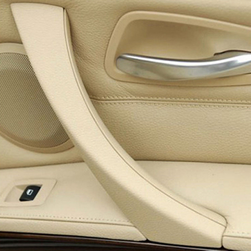 JXLCLYL Right Inner Door Panel Handle Outer Cover Trim For BMW 3-Series E90 Beige image