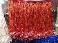 5,5 ярдов 15 см в ширину кружевная бахрома отделка отделочная кисточка для DIY Латинской этап платье одежда кружевные аксессуары ленты