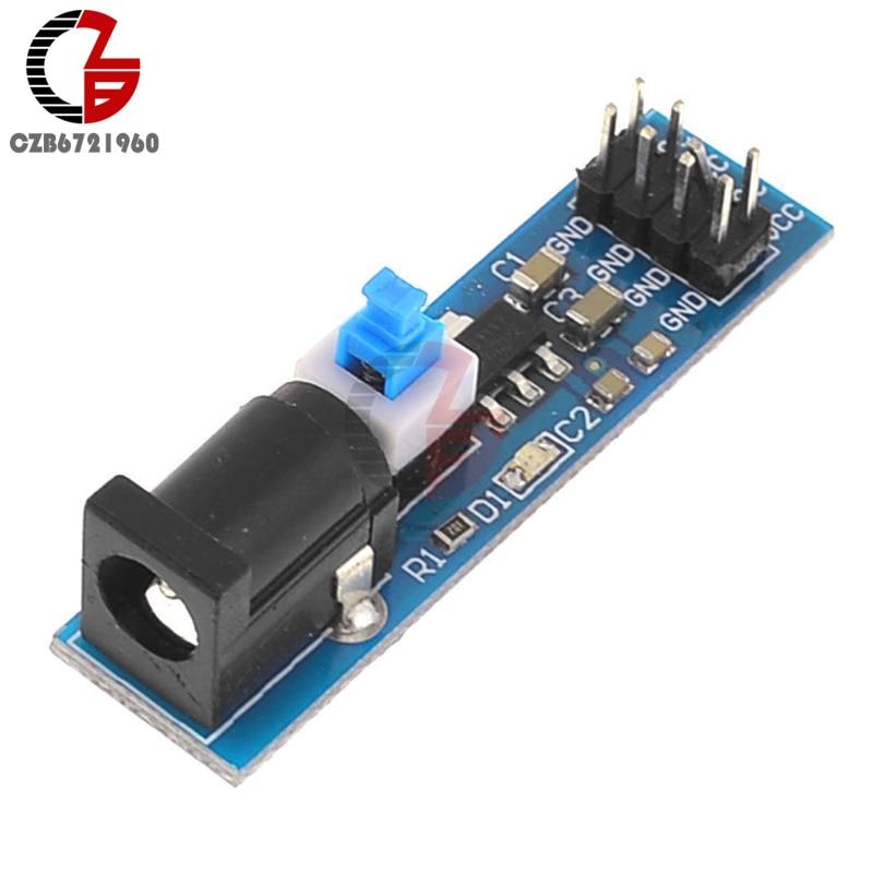 AMS1117 5V AMS1117-5V Power Supply Module Self-locking Switch Output Voltage Interface Power Indicator DC Jack Module
