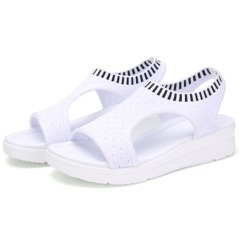 HTB13IjfxY1YBuNjSszhq6AUsFXa3 MLANXEUE Fashion Women Sandals For 2019 Breathable Comfort Shopping Ladies Walking Shoes Summer Platform Black Sandal Shoes