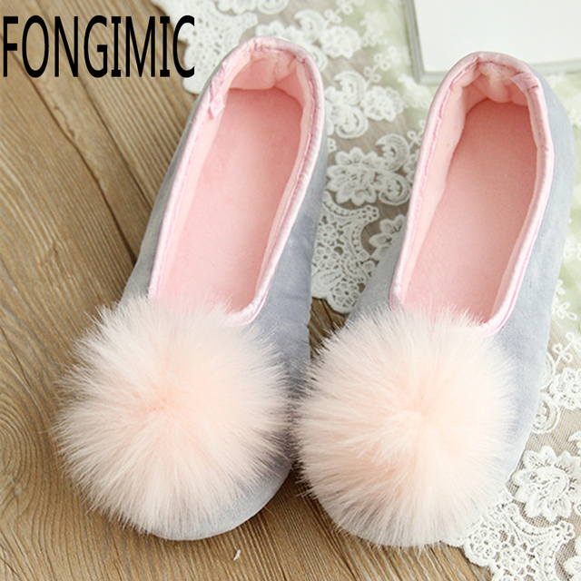 Fashion Women Winter Spring soft keep warm antiskid for pregnant  comfortable Non-slip Super adorable Pink Indoor Shoes Slippers