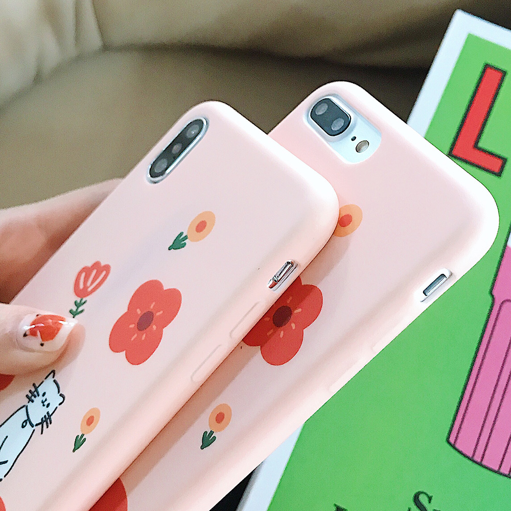 KIPX1123_3_JONSNOW Solid Liquid Soft Silicone Case For iPhone X XR XS Max 6 6S 7 8 Plus Cases Painted Cartoon Chick Cat Pattern TPU Cover
