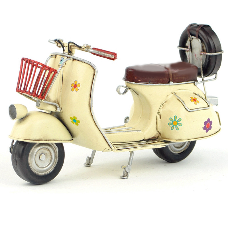 e42f14bd0bf Vespa mini metal motorcycle model yellow flower Italy vintage motorcycle  toy hot wheel Diecast metal model motorcycle-in Diecasts   Toy Vehicles  from Toys ...