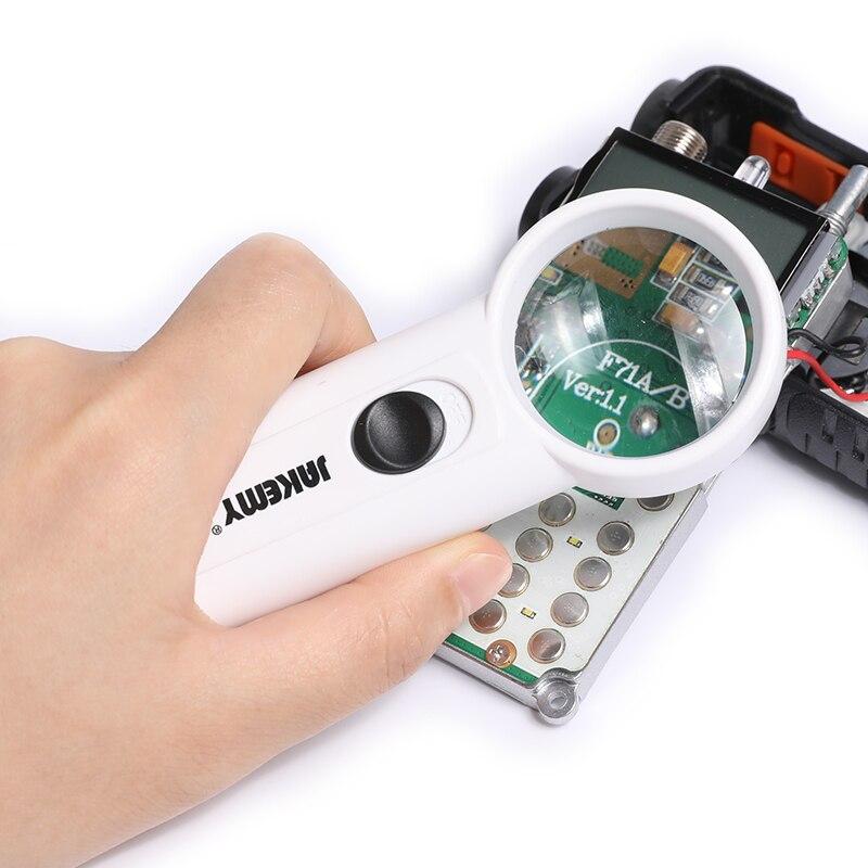 JAKEMY JM-Z19 2 LED 8X Optical Magnifier Led Pcb Fixtures Tool Computer Tool Set Kit Electronics For Repair Cellphone