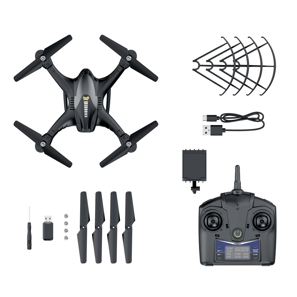 Holy Stone HS200 Drone RC Helicopter 720P Camera HD Wifi FPV Video 4 Speed Adjustment Drone Profissional APP Remote Control in RC Helicopters from Toys Hobbies