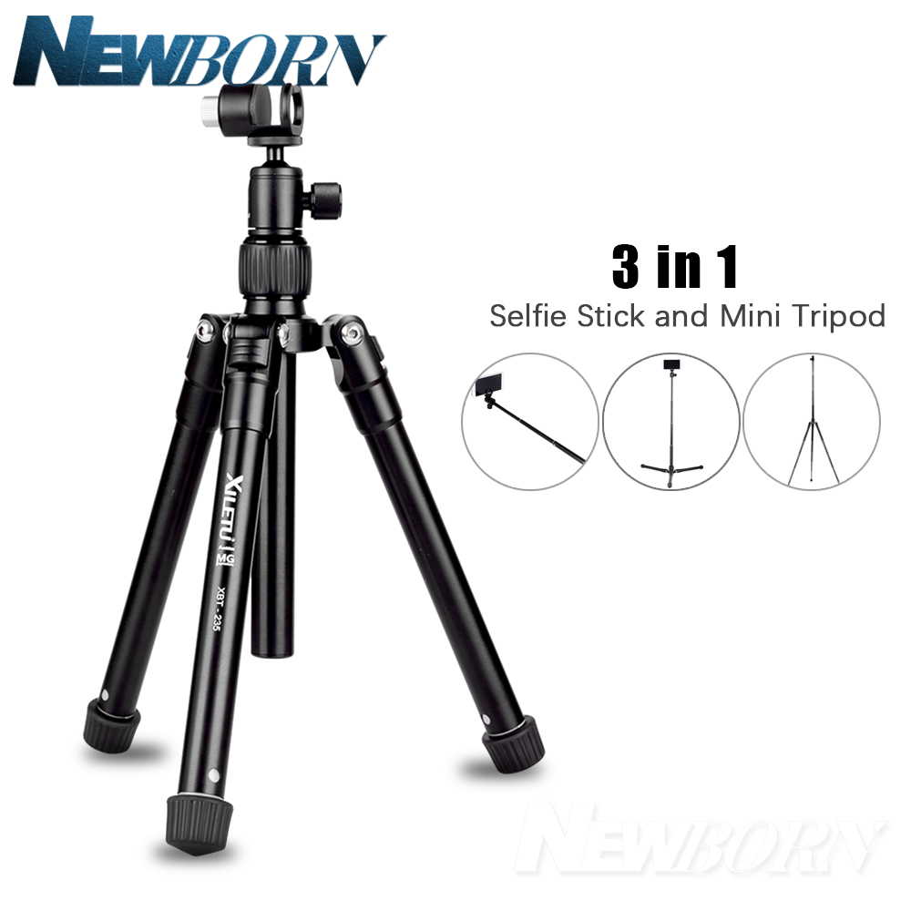 XILETU XBT-235 3in1 Extension Selfie Stick and Mini Tripod Stand With Phone Holder for Smartphone,DSLR and Mirrorless Camera