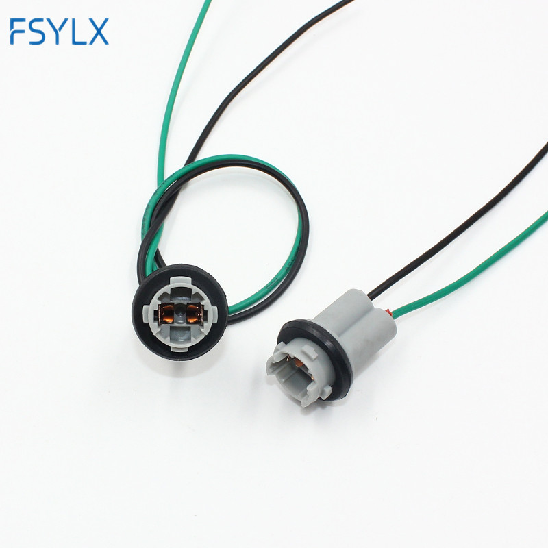 FSYLX 2pcs T10 socket holder W5W 168 194 t15 Car Auto Truck Light Instrument LED Bulb Connector adapter holder 30cm wire cable аксессуар gembird cablexpert dvi d dual link 25m 25m 3m black cc dvi2 bk 10