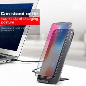 Image 2 - Baseus kablosuz şarj iPhone 11 Pro Max X Xr Samsung S9 not 8 9 hızlı kablosuz kablosuz şarj pedi yerleştirme Dock istasyonu