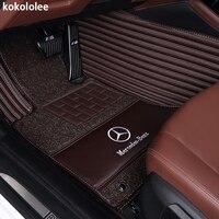Kokololee автомобиль коврик для mercedes все модели mercedes cla amg w212 w245 glk mercedes gla gle gl x164 vito w639 s600 автомобильные коврики