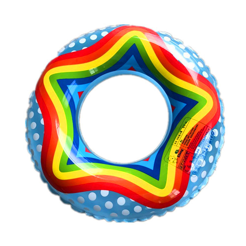 Swimming Pool Accessories Swimming Ring Thick Rainbow Swimming Ring Inflatable Underpricyclave Swimming Ring GXY086