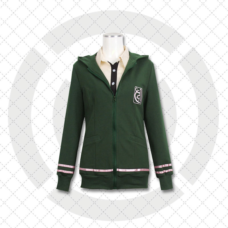 New Danganronpa Cosplay Costumes Super Dangan Ronpa 2 Anime Cosplay Clothes Seven Seas Chiaki Cosplay Coat