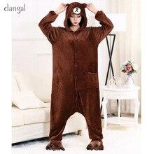 Fleece Pajamas Adult Onesie Kigurumi Bear Pajamas Kigurumi Rabbit Pajamas Brown Bear Onesie Couple Pajama Sets Warm Soft