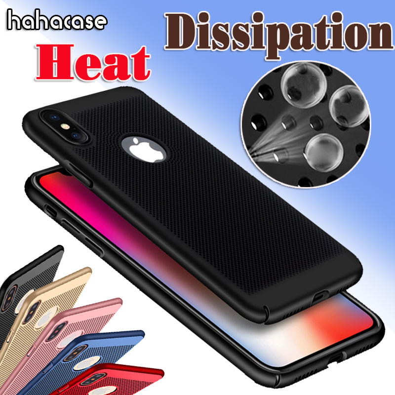 500pcs Honeycomb Back Heat Dissipation Cooling Housing Case For iPhone XS Max XR X 8 7 6 S Plus 5 S SE Ultra Thin Hard PC Cover