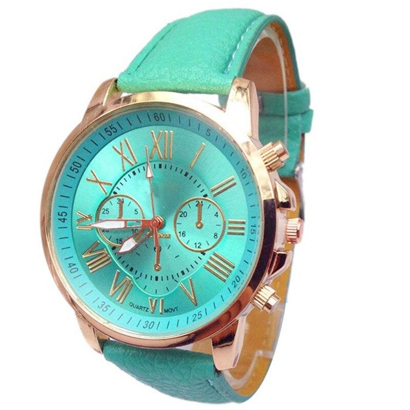 2019 Luxury Brand Women Watches Elegant Stylish Numerals Faux Sport Leather Analog Quartz Wrist Watch Clock Relojes Para Mujer A