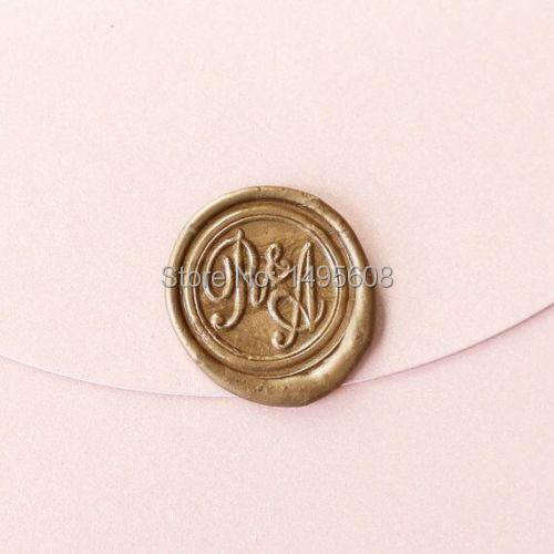 Personalized 2 Initials Monogram Wax Seal Stamp Sealing Wedding Invitation Seals