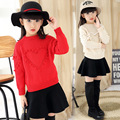 baby sweater  boys sweater girls cardigan  Autumn Korean version of the new children 's fashion pure color sets of sweaters skir