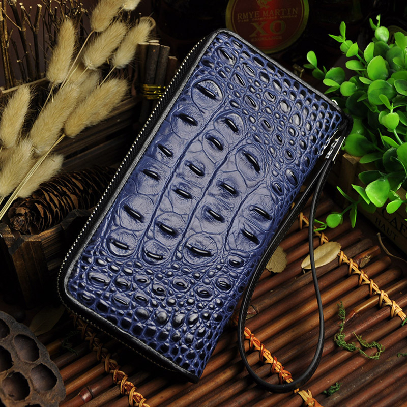 Fashion Design Crocodile Genuine Leather font b Men s b font font b Wallets b font