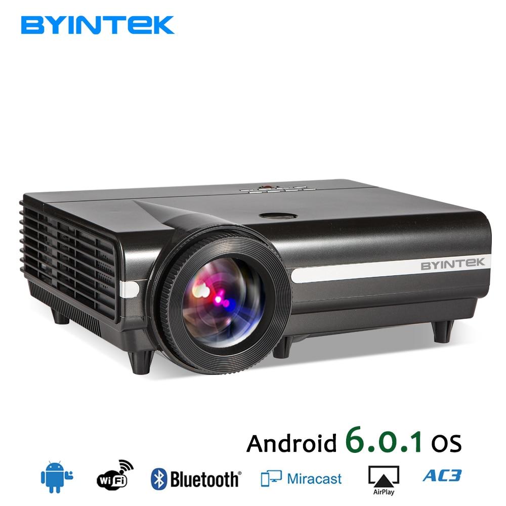 BYINTEK MOND BT96Plus Android Wifi Smart Video FÜHRTE Projektor Proyector Für Heimkino Full HD 1080 P Unterstützung 4 Karat Online Video