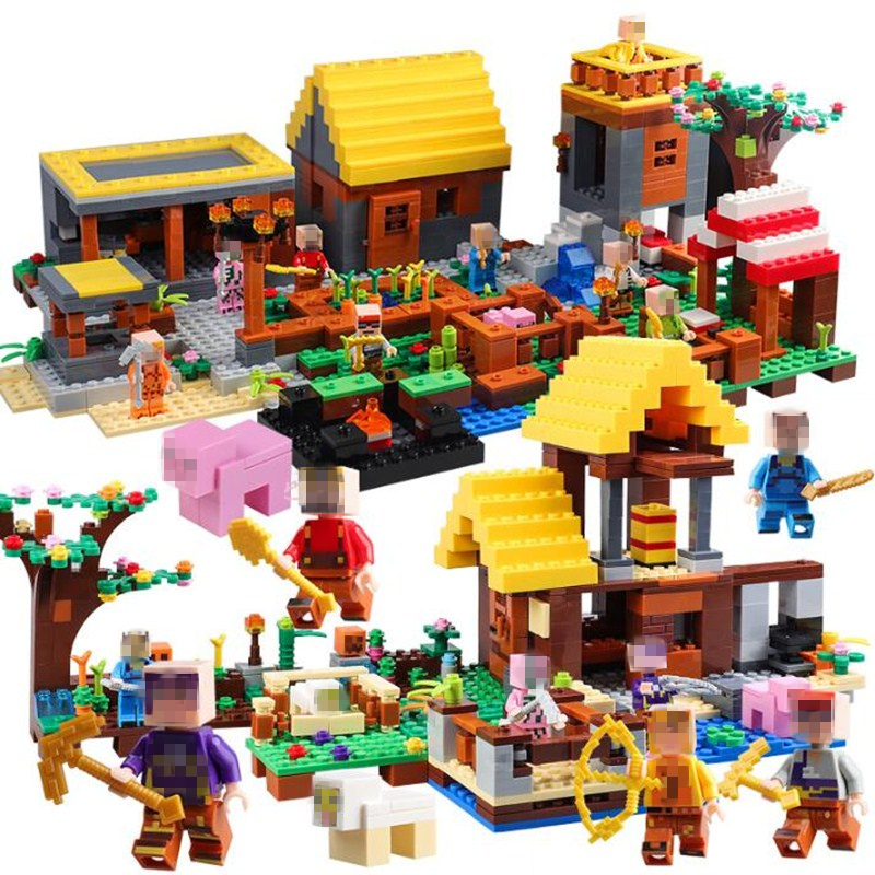 Minecrafted Building Blocks Compatible With Legoed city House Bricks Set Educational Toys for Children Gift 771pcs 8in1 minecrafted manor estate house my world model building blocks bricks set compatible legoed city boy toy for children