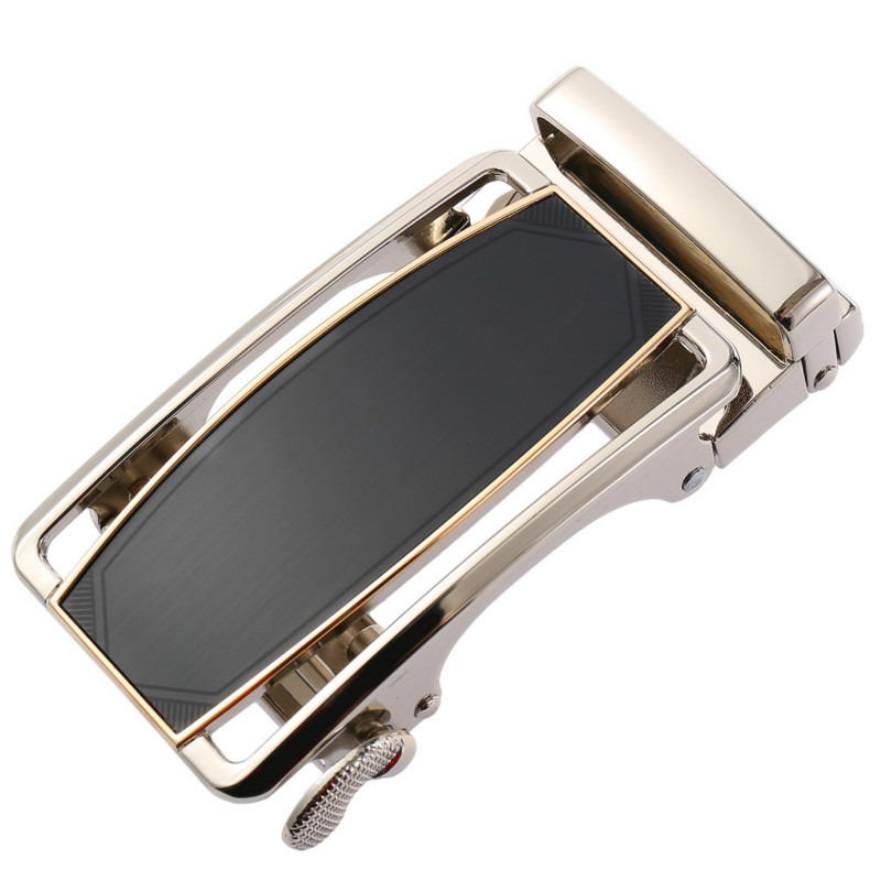 Fashion Men's Business Alloy Automatic Buckle Unique Men Plaque Belt Buckles 3.5cm Ratchet Men Apparel Accessories LY136-21864