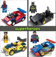 4 & 4 Vehicles Marvel Ironman  Building Bricks Blocks Sets Super Heroes Toy Figure  Learning Lepin