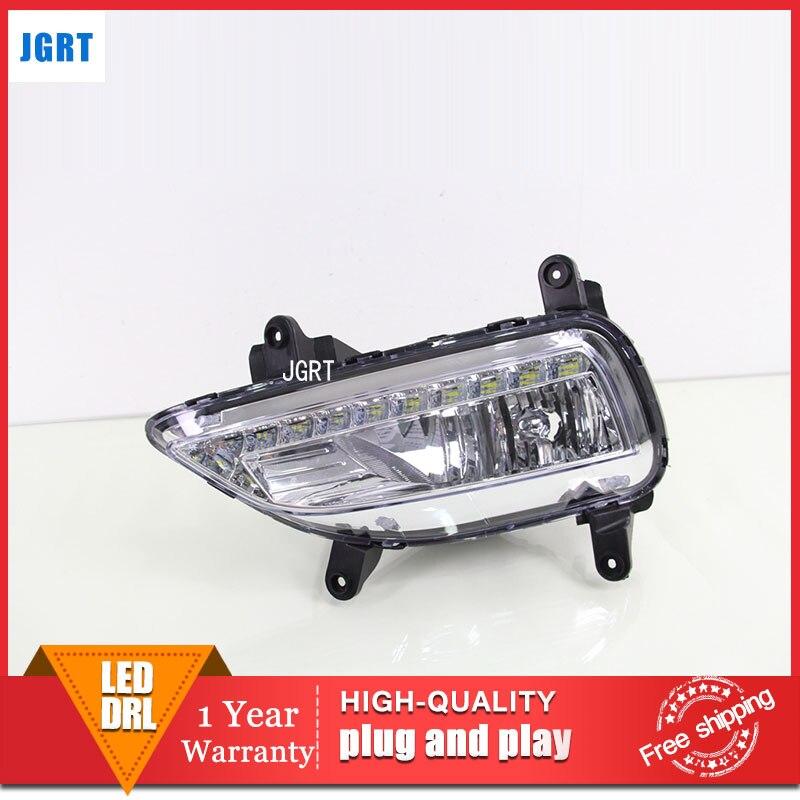 car styling 2013-2015 For kia Forte LED DRL For Forte led fog lamps daytime running light High brightness guide LED DRL