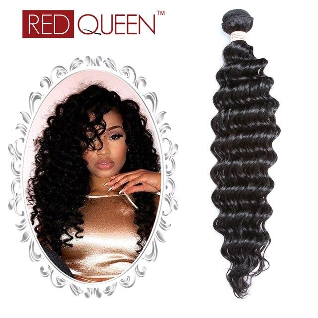 4 Связки 8А Класс Индийского Вьющиеся Волосы Девственницы Глубокая Волна 100% Необработанные Человеческих Волос Remy Красный Queen Hair продукты
