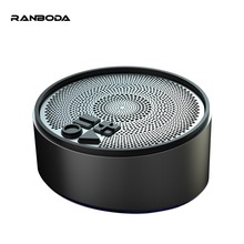 hot deal buy tws wireless speakers true wireless mini bluetooth 4.2 computer speakers with aux bluetooth tf card hands free metal black